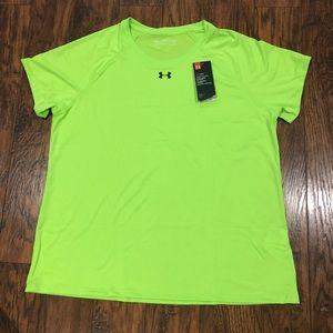 Under Armour Neon green T-Shirt 2XL